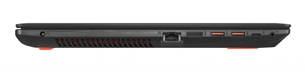 Lateral del portátil Asus GL553VD