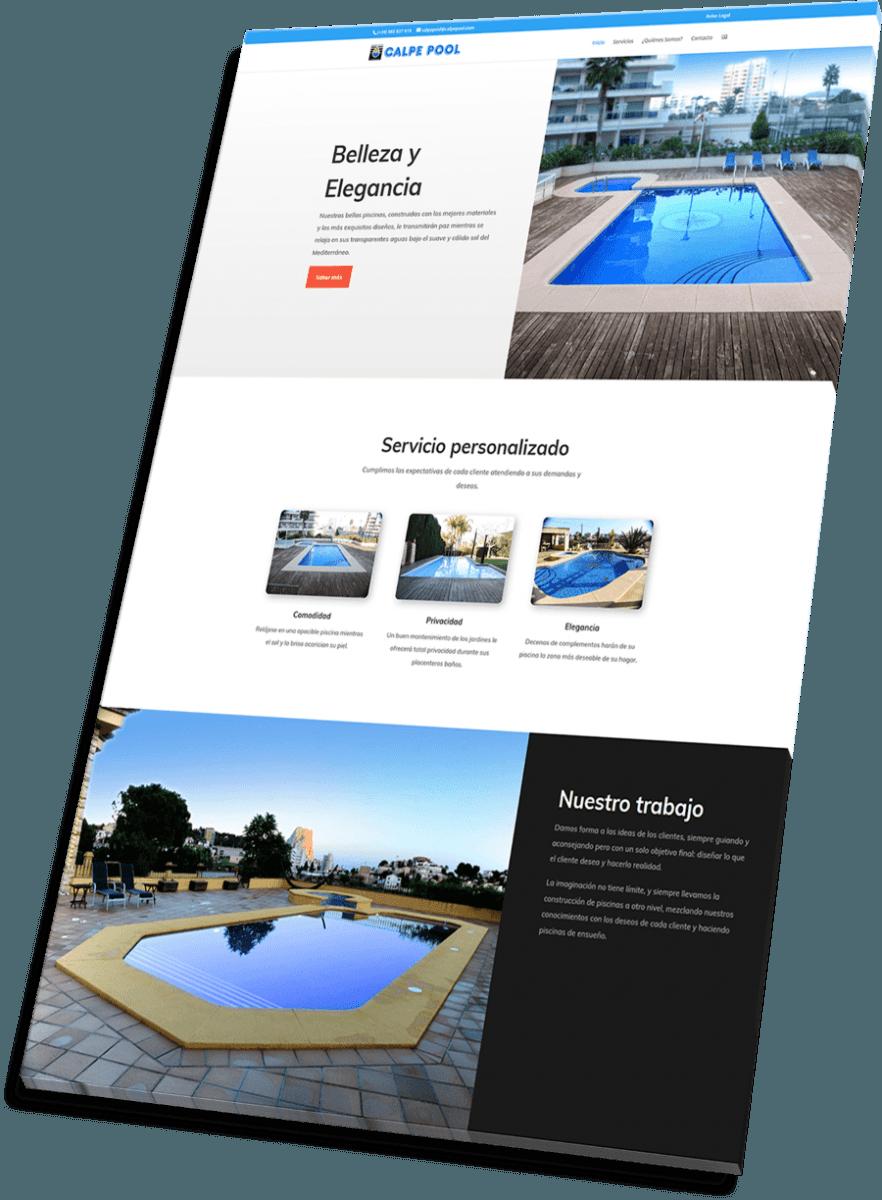 Portfolio de Veirax Web - Calpe Pool