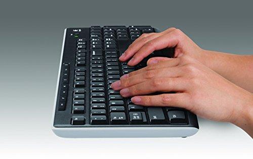 Logitech K270 Teclado Inalámbrico para Windows, 2,4 GHz con Receptor USB Unifying, 8 Teclas Programables, Batería 24… 5
