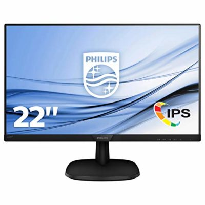 "Philips 223V7QHAB/00 - Monitor IPS de 21.5"" con Altavoces (Full HD, 1920x1080, Sin bordes, Flicker Free, Low Blue Mode, VESA, VGA + HDMI) 3"