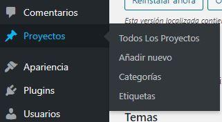 Mostrar proyectos en WordPress como una galería