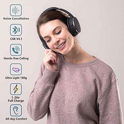 Auriculares de Diadema Estéreo Inalámbricos con Cancelación de Ruido Bluetooth 5.0.Srhythm NC25 (2020) ANC Headhpones… 2