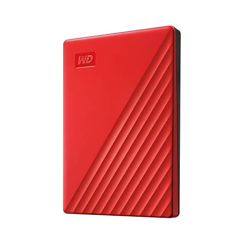 WD 2 TB My Passport disco duro portátil con protección con contraseña y software de copia de seguridad automática, Compatible con PC, Xbox y PS4, color Rojo 2