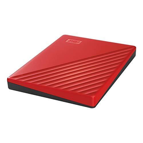 WD 2 TB My Passport disco duro portátil con protección con contraseña y software de copia de seguridad automática, Compatible con PC, Xbox y PS4, color Rojo 4