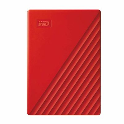 WD 2 TB My Passport disco duro portátil con protección con contraseña y software de copia de seguridad automática, Compatible con PC, Xbox y PS4, color Rojo 1