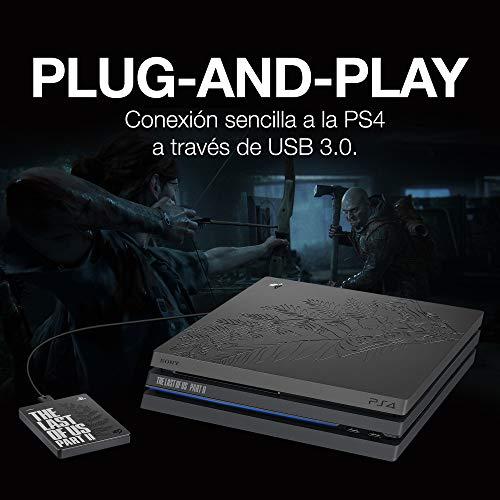 Seagate Game Drive, 2 TB, Disco duro externo, HDD portátil, compatible con PS4 (STGD2000200) 4