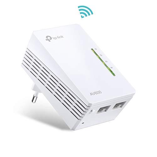 TP-Link TL-WPA4220-1 Adaptadores de Comunicación por Línea Eléctrica (WiFi AV 600 Mbps, PLC con WiFi, Extensor… 1
