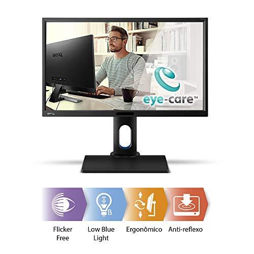 "BenQ BL2420PT - Monitor para Diseñadores de 23.8"" (2K QHD, 2560x1440, 100% sRGB, Rec. 709, IPS, modo CAD, Low Blue Light , Flicker-free, Altura y Rotación Ajustable), Color Negro 7"