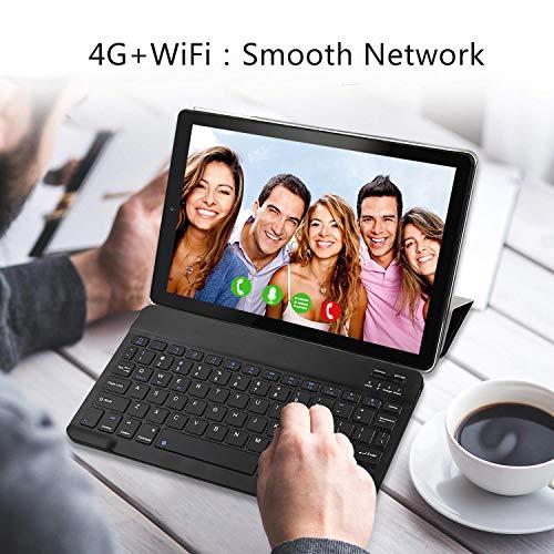 Tablet 10 Pulgadas YOTOPT, 4GB de RAM y 64 GB de Memoria, Android 10.0 Dobles SIM y TF, GPS WiFi Soporte (Negro 6