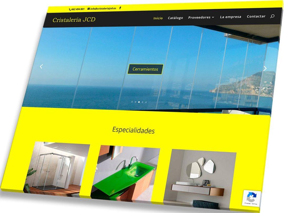 Trabajos de Veirax Web - Cristalería JCD
