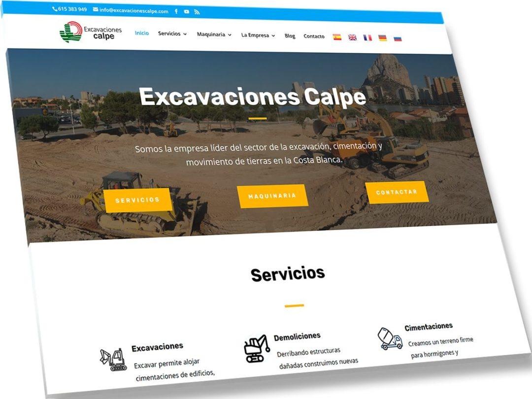 Trabajos de Veirax Web - Excavaciones Calpe