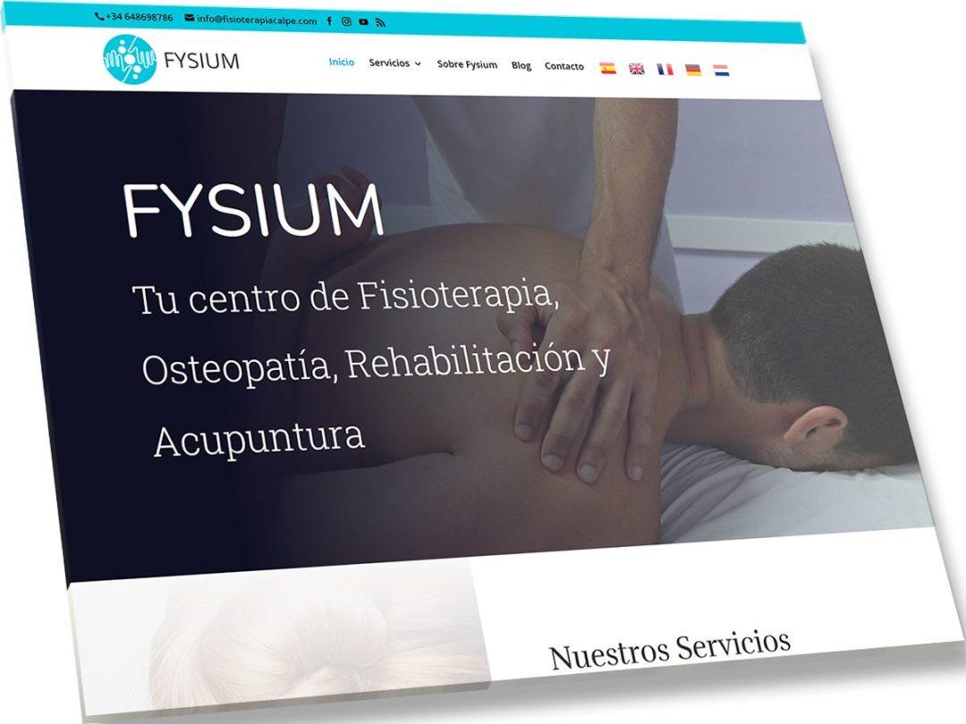 Trabajos de Veirax Web - Fysium - Fisioterapia Calpe